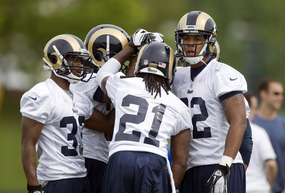 May 11, 2012; St. Louis, MO, USA; St. Louis Rams cornerback Trumaine Johnson (22) during training camp at ContinuityX Training Center. Mandatory Credit: Jeff Curry-US PRESSWIRE