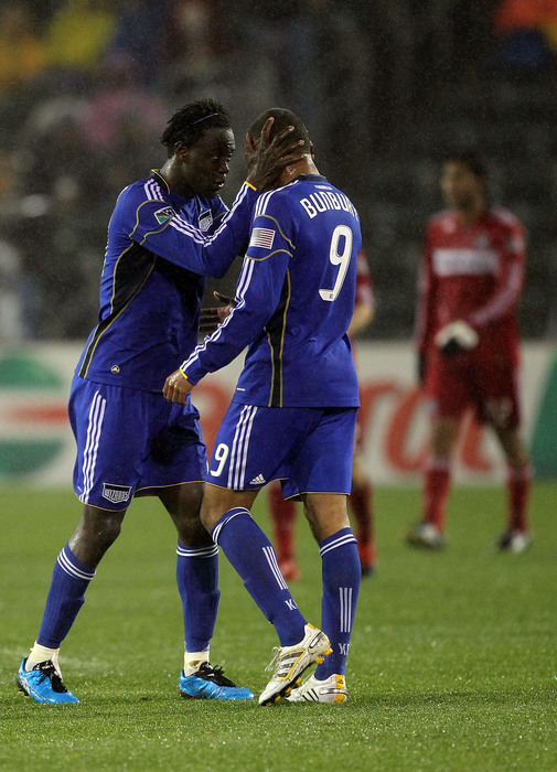 The present, and future, of the <strong>Kansas City Wizards</strong> strikeforce. (Photo by Jamie Squire/Getty Images)