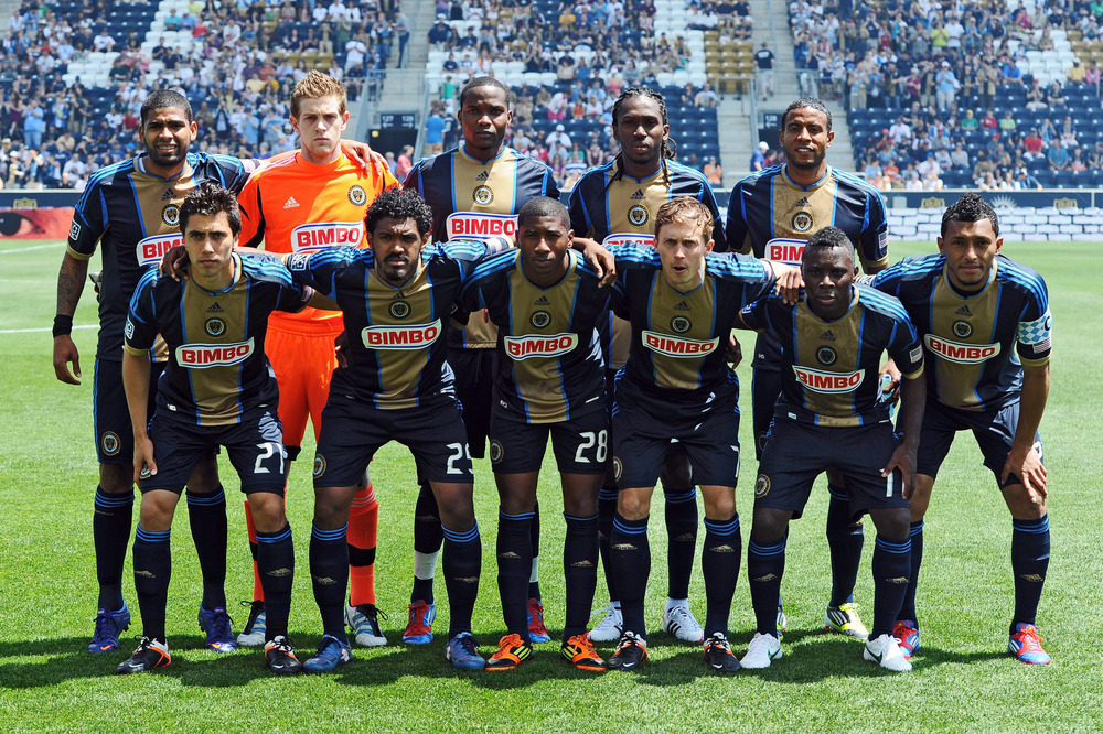 CHESTER, PA- MARCH 13: The Philadelphia Union starting eleven pose for photograph before the game against the New York Red Bulls at PPL Park on May 13, 2012 in Chester, Pennsylvania. (Photo by Drew Hallowell/Getty Images)