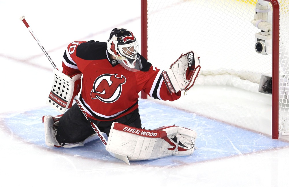 Martin Brodeur will return to the New Jersey Devils next season. Ed Mulholland-US PRESSWIRE