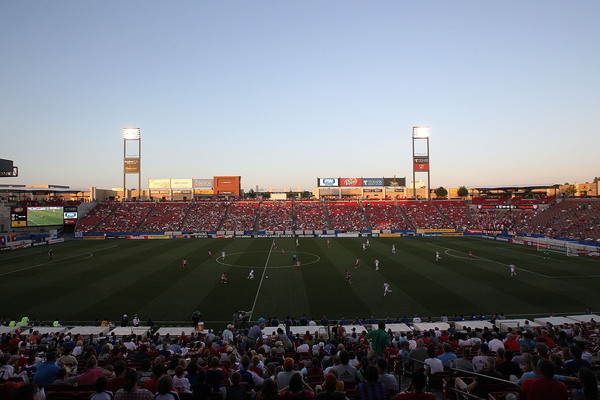 FC Dallas Stadium should be rocking tomorrow night as Dallas hosts the Galaxy.  (Photo by Ronald Martinez/Getty Images)