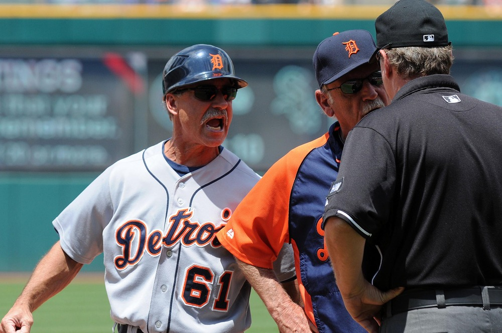 Tom Brookens gets mad when the umpire makes calls he doesn't like. Tom Brookens should chill out.