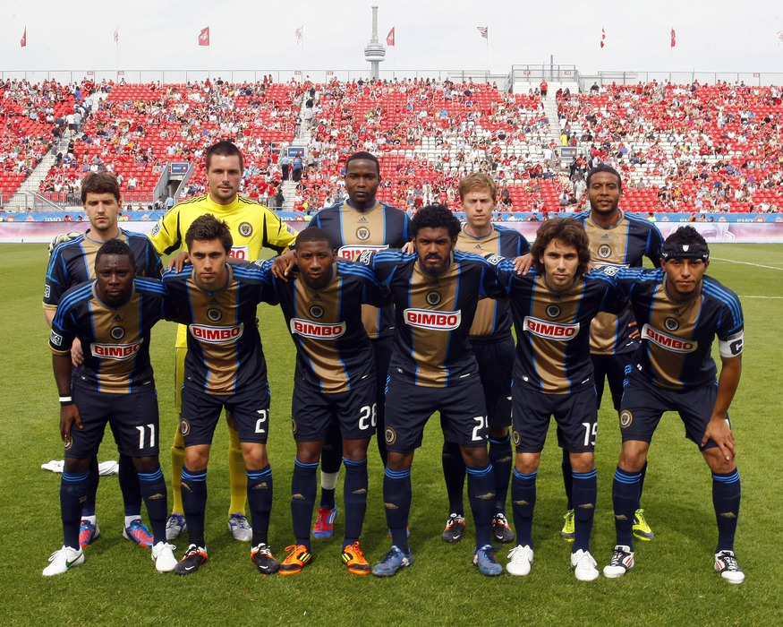 May 26, 2012; Toronto, ON, CANADA; The starting line up for the Philadelphia Union pose for a photo at BMO Field prior to a game against the Toronto FC. Toronto defeated Philadelphia 1-0. Mandatory Credit: John E. Sokolowski-US PRESSWIRE
