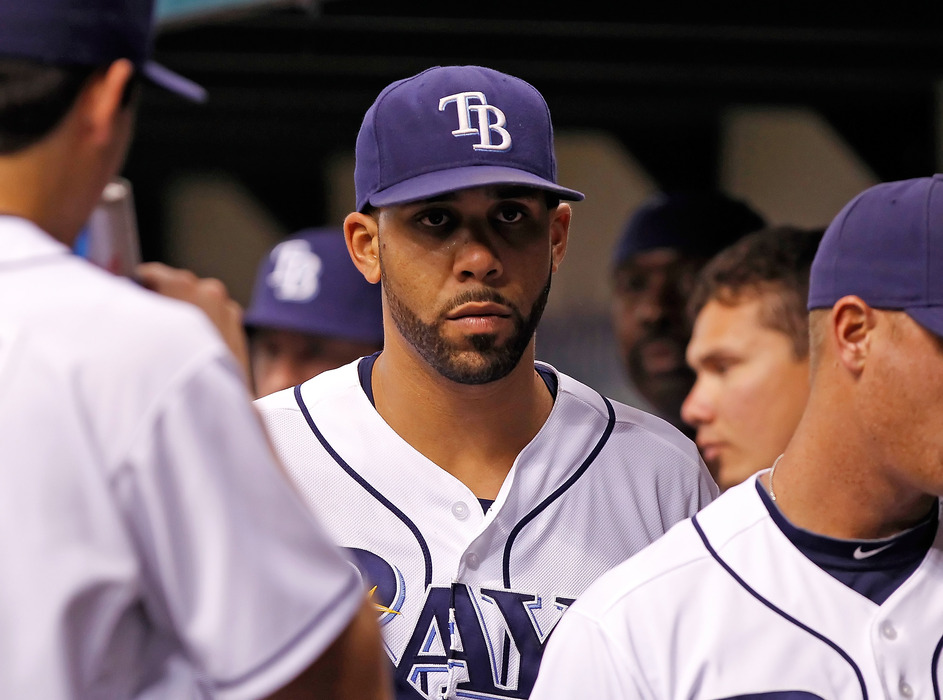 ST. PETERSBURG - JUNE 01:  David Price, featuring more ground ballsiness  (Photo by J. Meric/Getty Images)