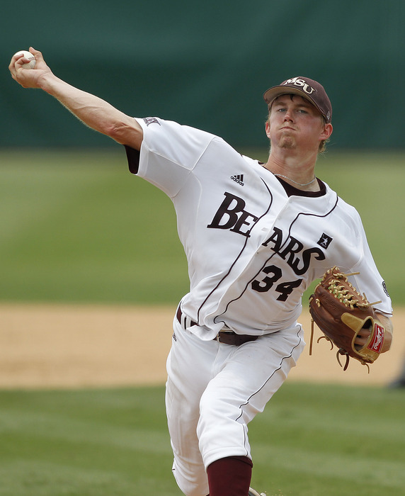 Will former Rays draft pick Pierce Johnson's medical records check out for him to go in the first round? Credit: Robert Mayer-US PRESSWIRE