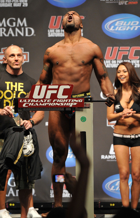 """Former champion Quinton """"Rampage"""" Jackson (pictured) is expected to meet Thiago Silva at UFC 130 in May."""