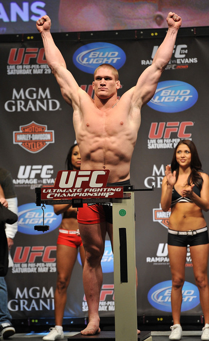 Todd Duffee's surprising release from the UFC puts the promising young fighter in with an interesting mix of non-UFC prospects.  (Photo by Jon Kopaloff/Getty Images)
