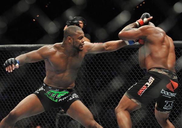 UFC fighter Rashad Evans (L) will fight Tito Ortiz at UFC 133 on August 6, 2011 at the Wells Fargo Center in Philadelphia, Pennsylvania. (Photo by Jon Kopaloff/Zuffa, LLC via Getty Images)