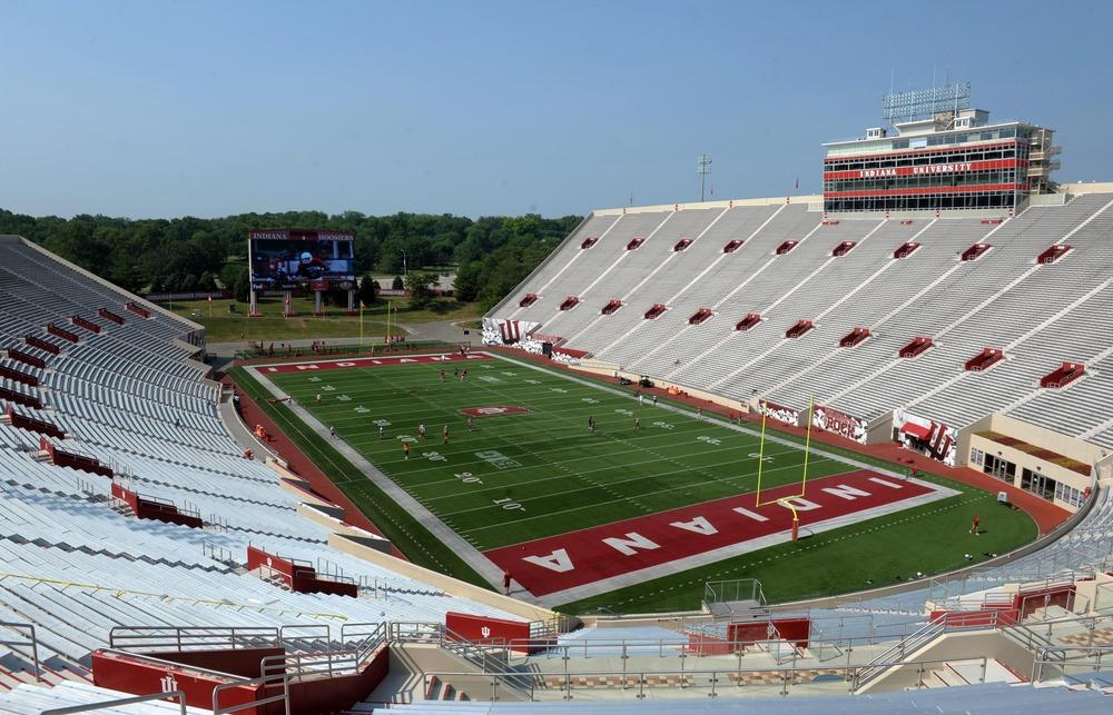 Indiana's stadium 5 minutes before kickoff. No, not really.