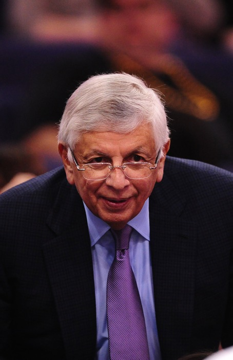 Mar. 27, 2012; Phoenix, AZ, USA; NBA commissioner David Stern in attendance during the game between the Phoenix Suns against the San Antonio Spurs at the US Airways Center. Mandatory Credit: Mark J. Rebilas-US PRESSWIRE