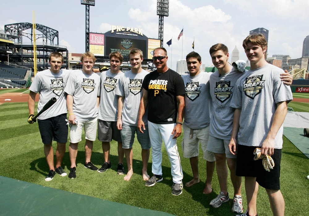 Insert obligatory joke about top NHL prospects touring PNC Park being better than the Pirates.