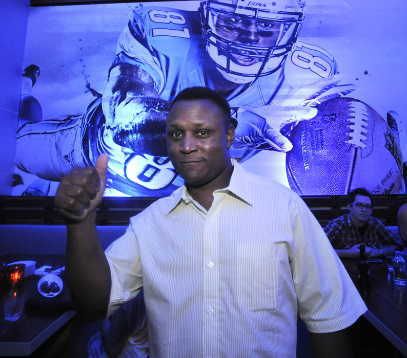 CHICAGO, IL - JUNE 21:  Former NFL player Barry Sanders at the EA SPORTS Madden NFL 13 Pigskin Pro-Am Eve on June 21 2012  in Chicago, Illinois.  (Photo by David Banks/Getty Images for EA Sports)