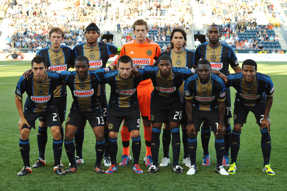 CHESTER, PA- JUNE 23: The starting squad for the Philadelphia Union pose for a photograph before the match against Sporting Kansas City at PPL Park on June 23, 2012 in Chester, Pennsylvania. The Union won 4-0. (Photo by Drew Hallowell/Getty Images)