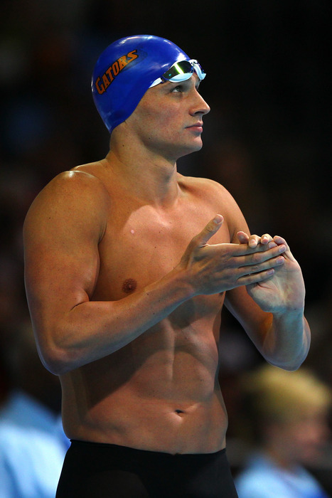 Ryan Lochte won the first gold medal of the games among conference athletes in the 400m individual medley.