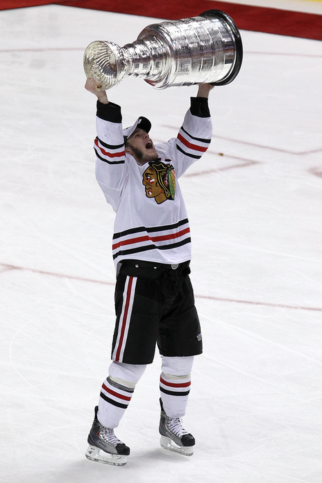 With Jonathan Toews and the Blackhawks eliminated, we begin our quest to find out who the next captain to hoist the Stanley Cup will be. (Photo by Al Bello/Getty Images)