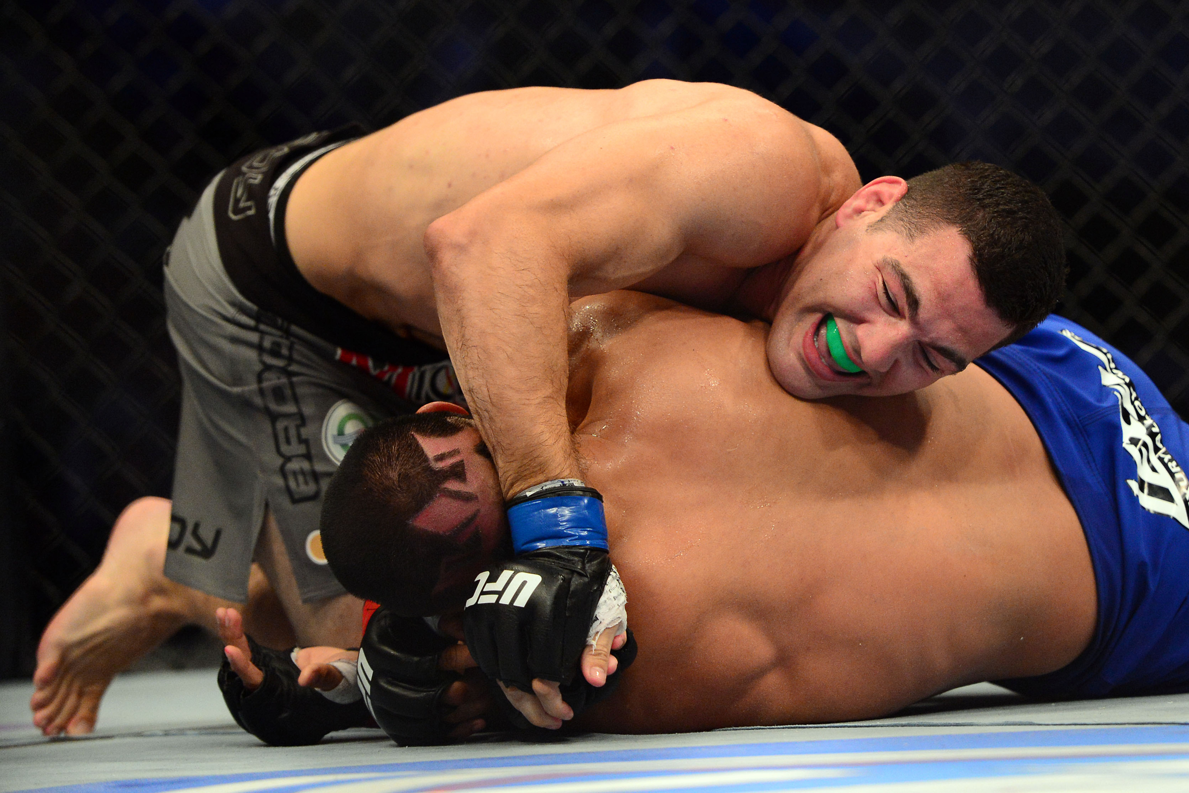 Chris Weidman (top) defeated Mark Munoz Wednesday night during UFC On FUEL 4. Kyle Terada-US PRESSWIRE