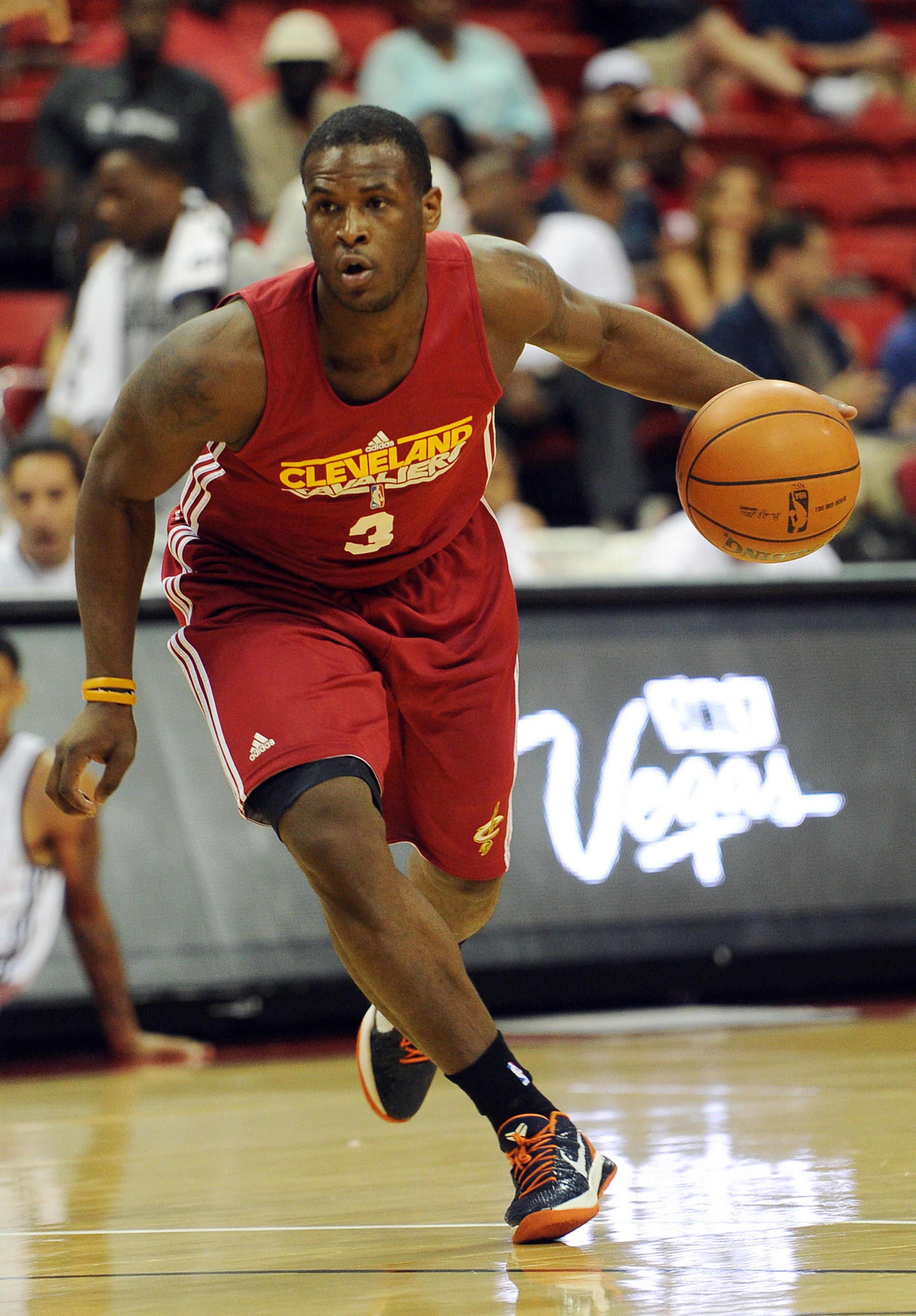 July 17, 2012; Las Vegas, NV, USA;   Cleveland Cavaliers guard Dion Waiters (3) during the game against the Phoenix Suns at the Thomas and Mack Center. Mandatory Credit: Jayne Kamin-Oncea-US PRESSWIRE