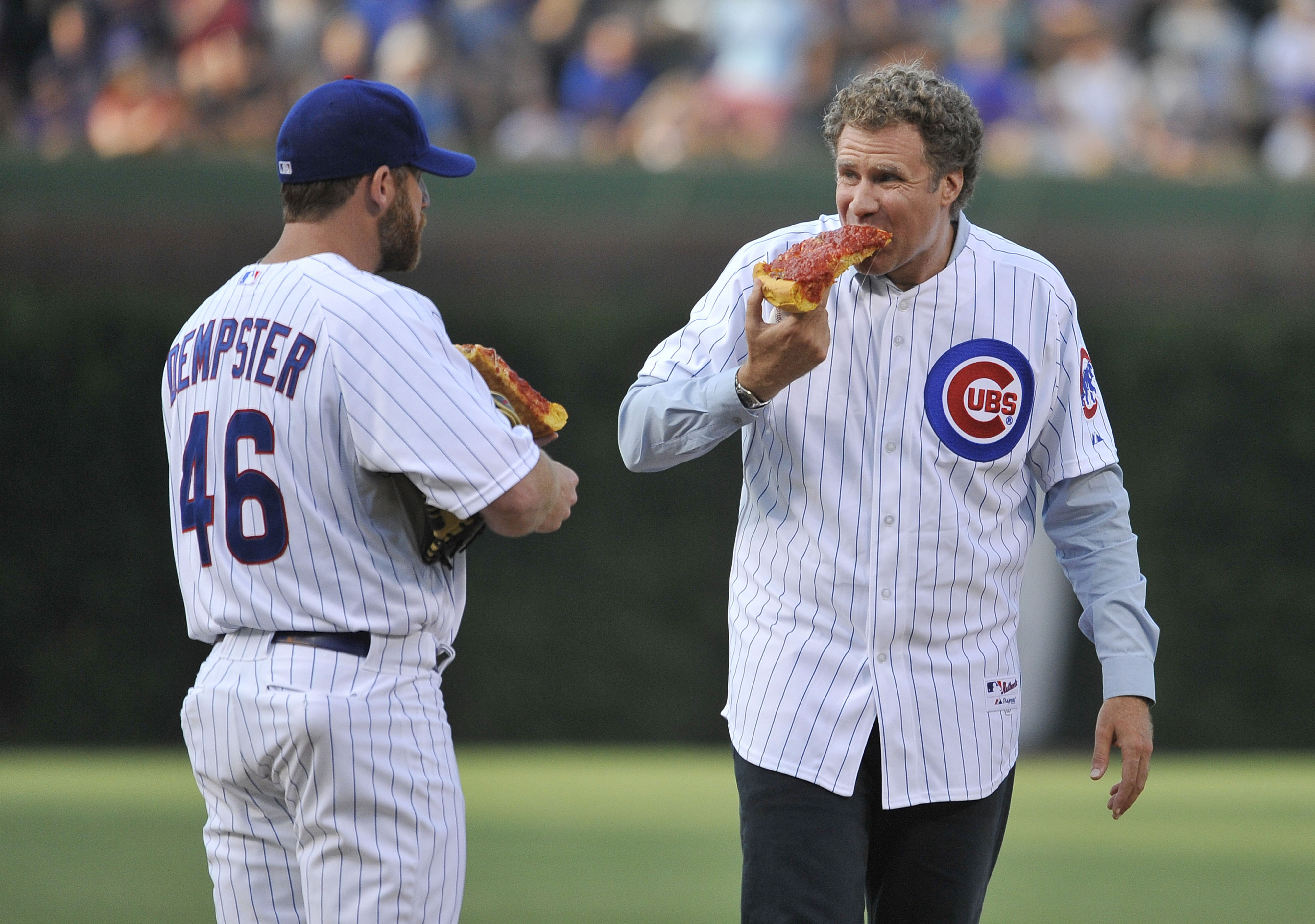 Former USC Trojan Will Ferrell did some recruiting work on Sunday, trying to lure Ryan Dempster to Los Angeles.