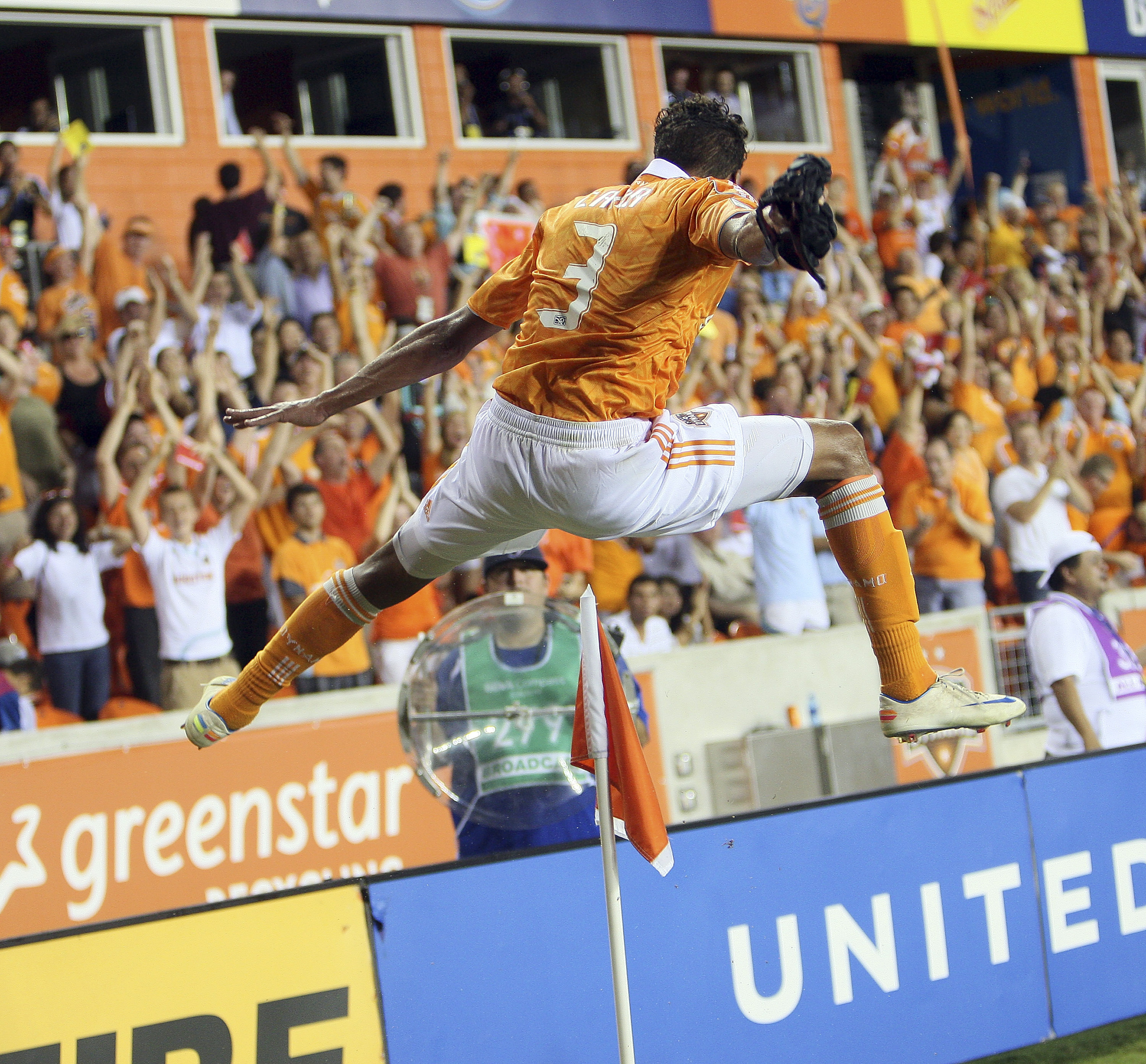 Calen Carr jumped for joy, as did we all as he was instrumental in the Dynamo earning nine points in seven days last week, earning him MLS Player of the Week honors.