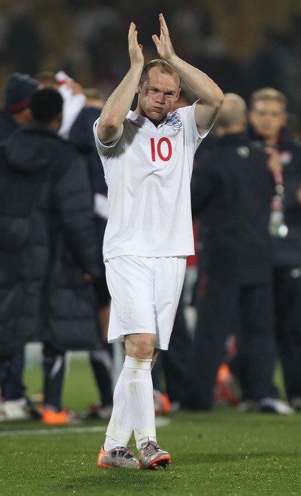 Wayne Rooney and England play at Denmark (Photo by Ian Walton/Getty Images)