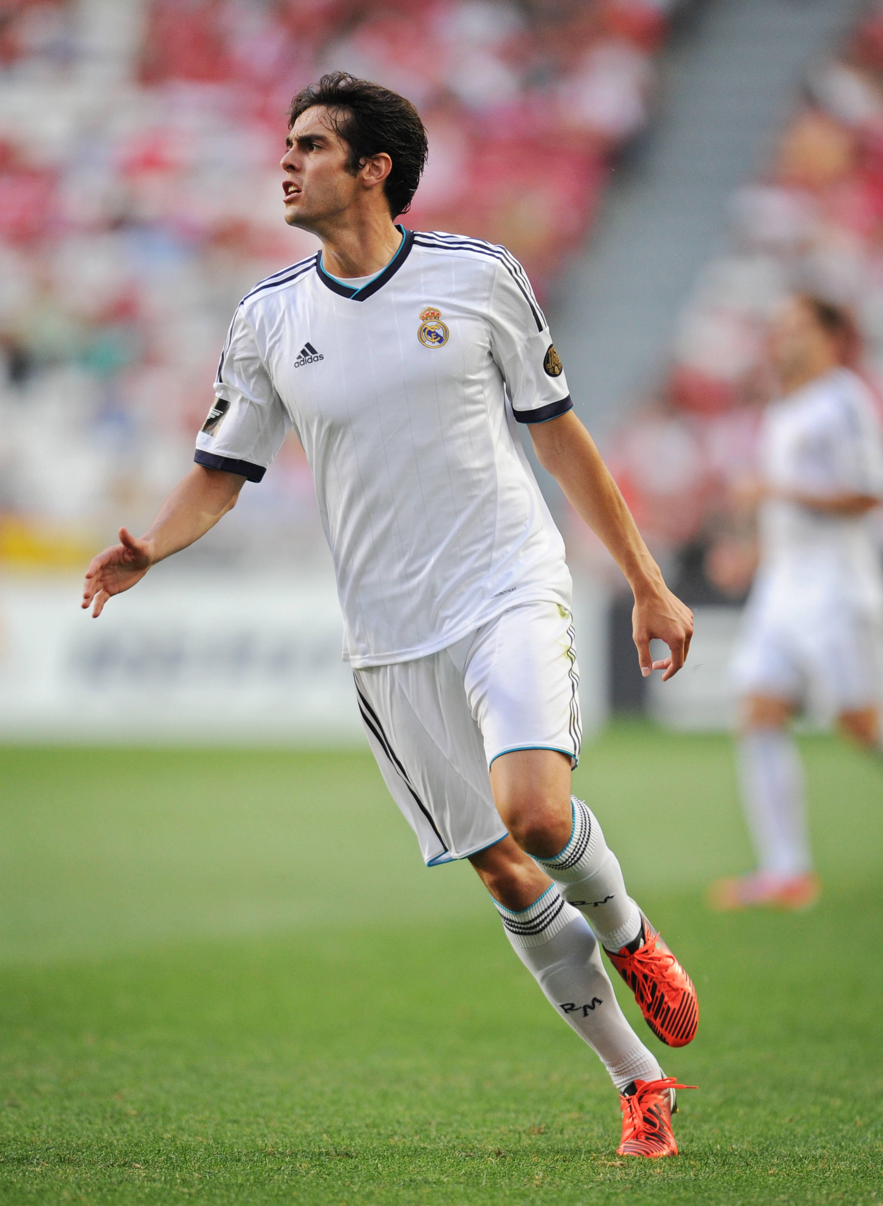 LISBON, PORTUGAL - JULY 27: Kaka of Real Madrid reacts during the Eusebio Cup match between Benfica and Real Madrid at Estadio da Luz on July 27, 2012 in Lisbon, Portugal.  (Photo by Jasper Juinen/Getty Images)