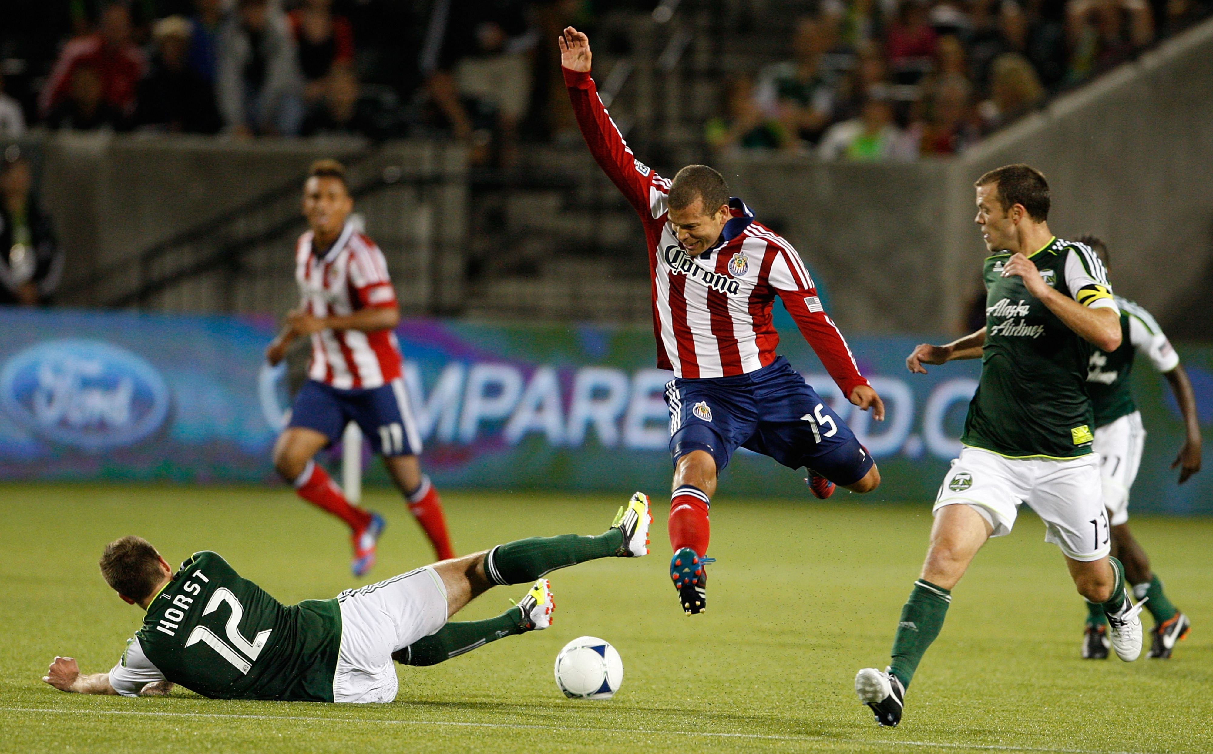 PORTLAND, OR - JULY 28: Moreno is jumping for joy! Talking Goats is back! (Photo by Kevin Casey/Getty Images)