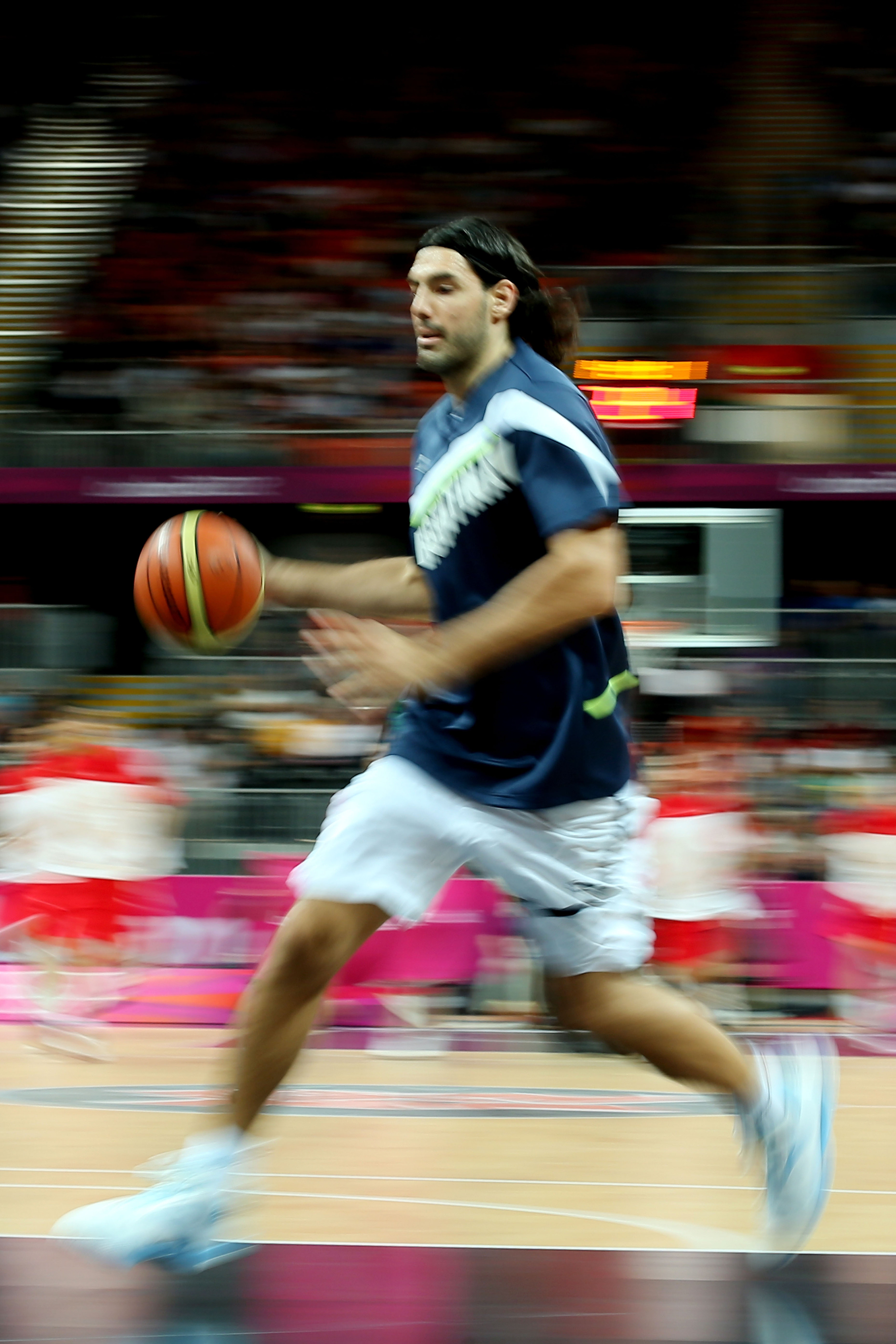 The Olympic Basketball Tournament's leading scorer will look to take down Team USA....and blind us all with this blurry photo.