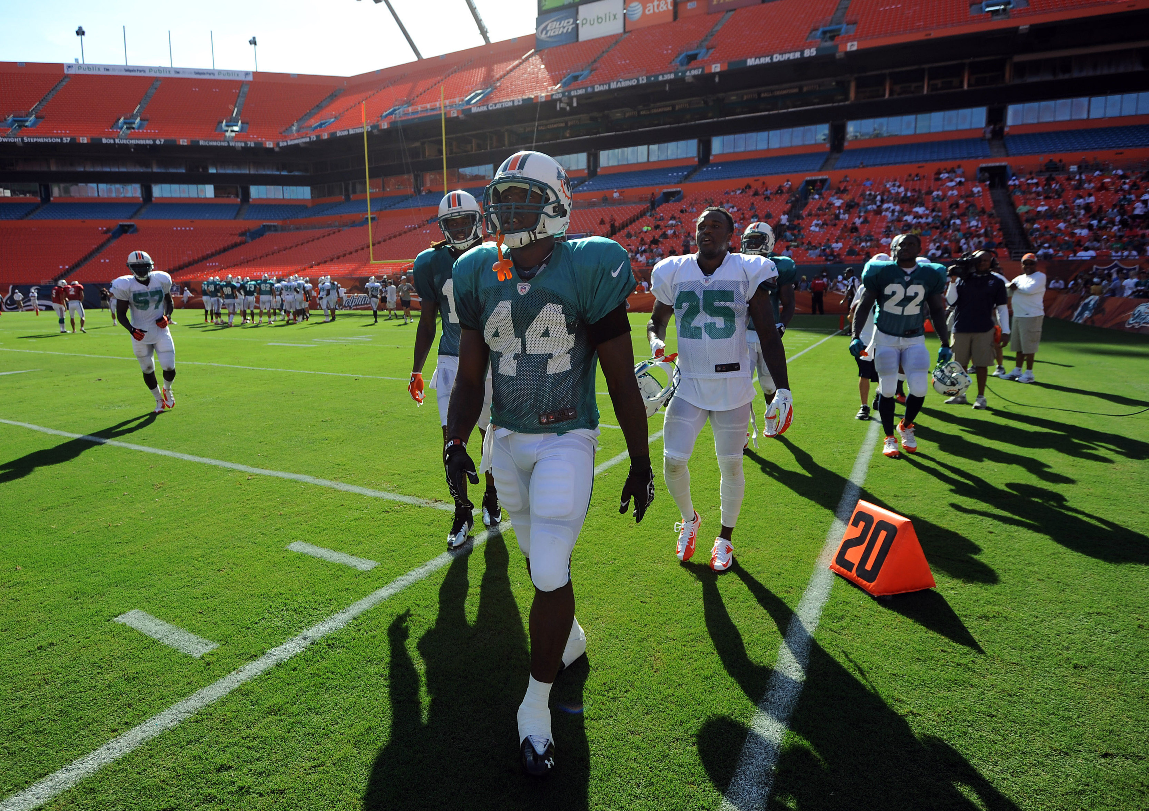The Miami Dolphins' 2012 training camp takes center stage tonight with the debut of HBO's Hard Knocks: Training Camp With The Miami Dolphins.