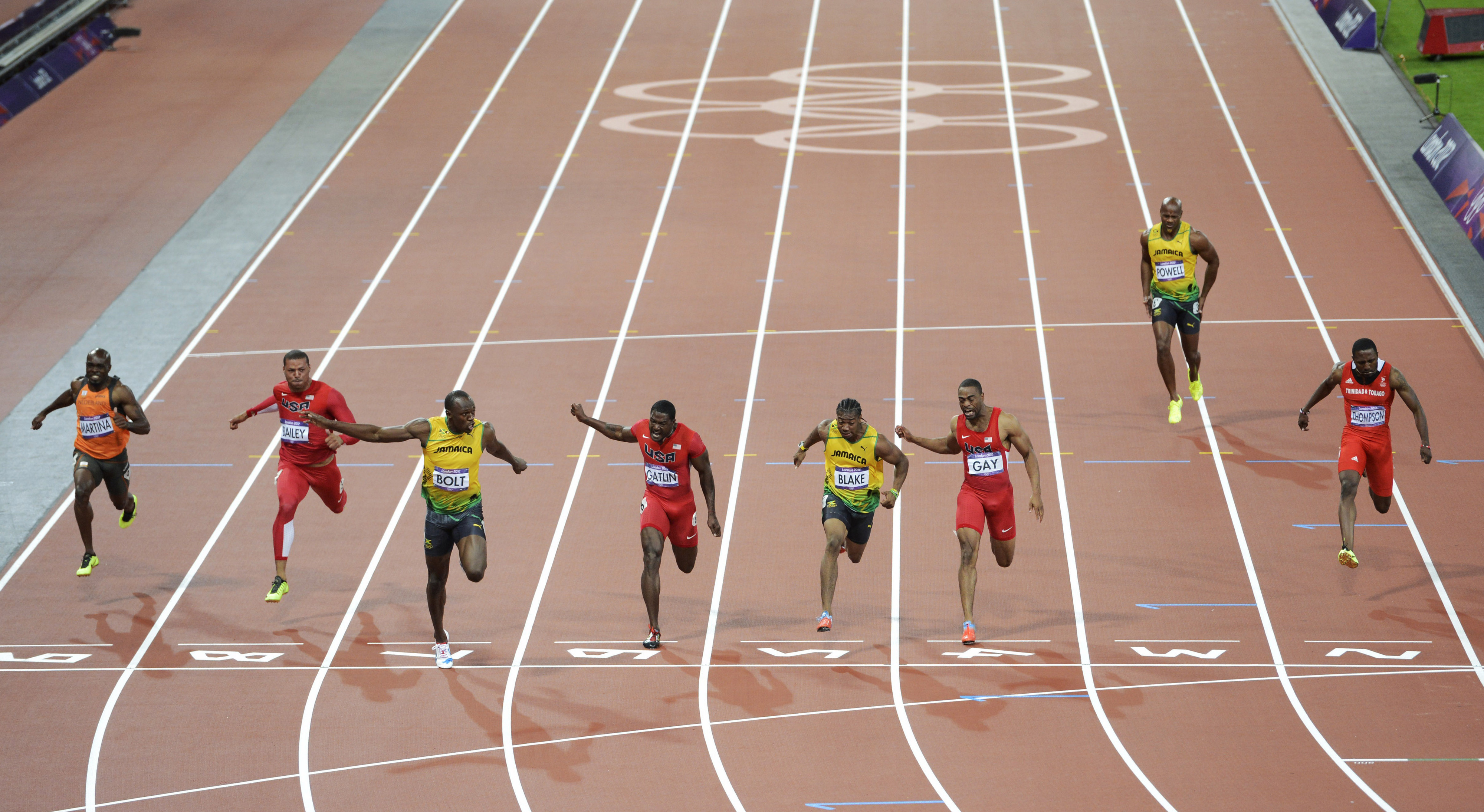 If Twitter can be believed, this is -- literally -- all most Americans managed to see live when they tried to watch the 100m online.  (Bob Donnan-USA TODAY Sports)