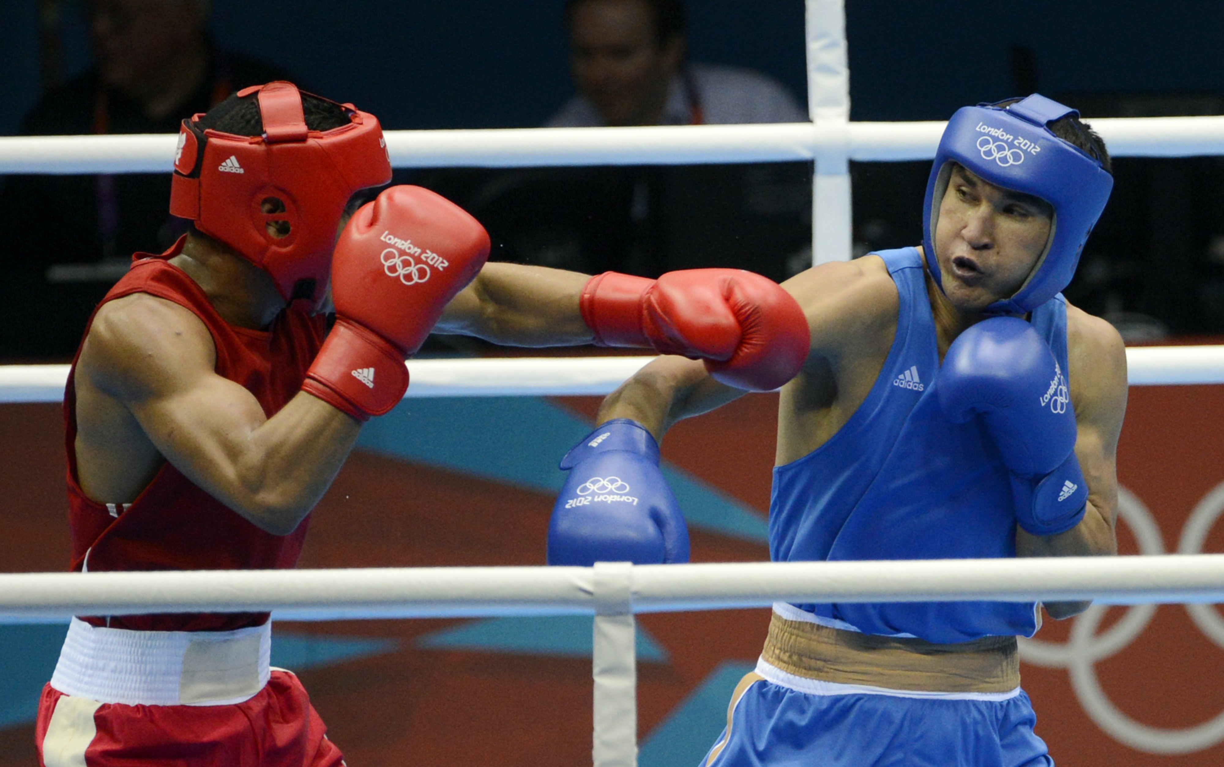 Serik Sapiyev of Kazakhstan put on a class display against Great Britain's Freddie Evans to win the welterweight gold medal in London. (Photo by Richard Mackson-USA TODAY Sports)