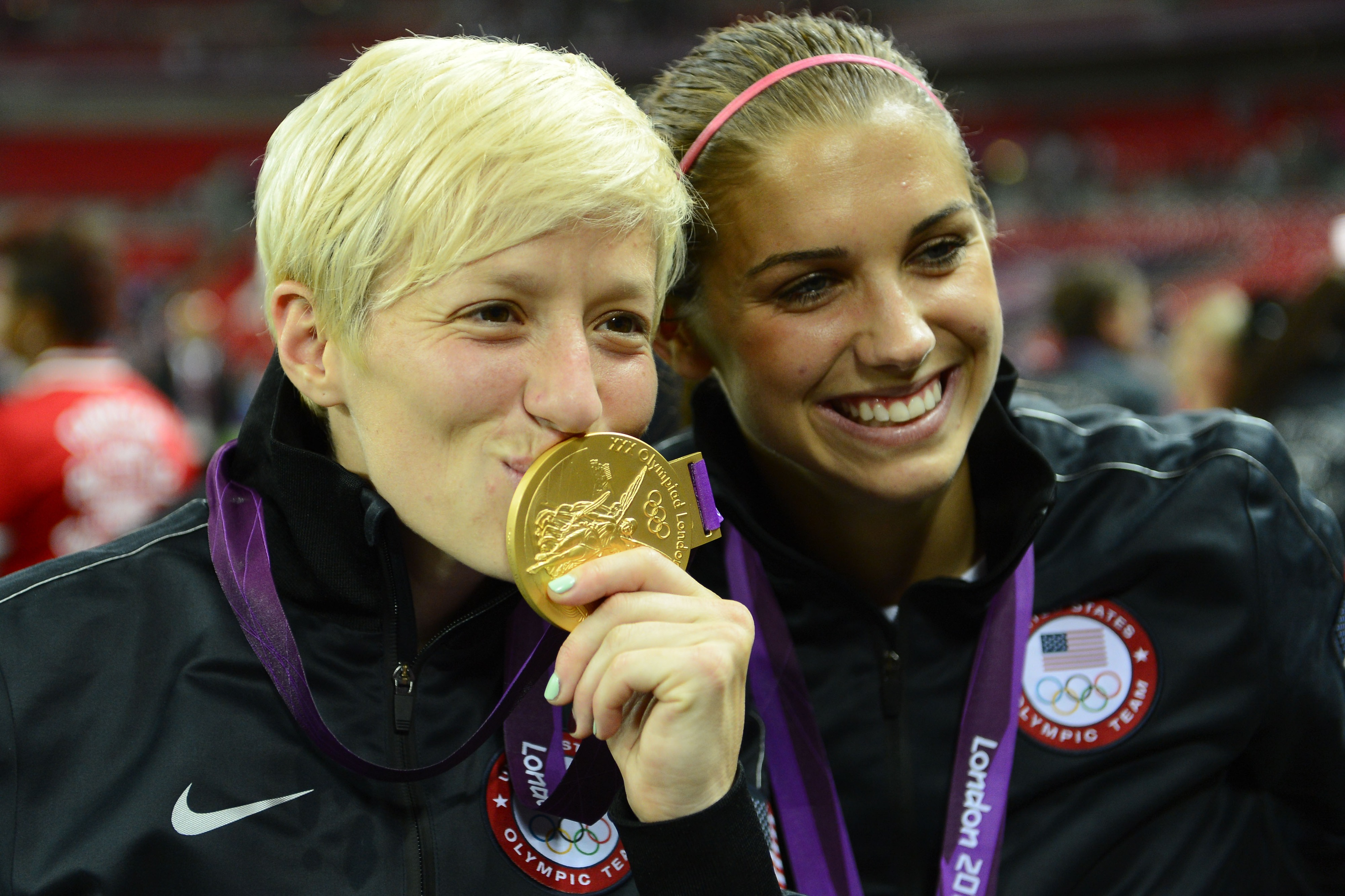 Congrats to the US Soccer women, who brought home the gold medal. <strong>Megan Rapinoe</strong> and <strong>Alex Morgan</strong>, pictured.