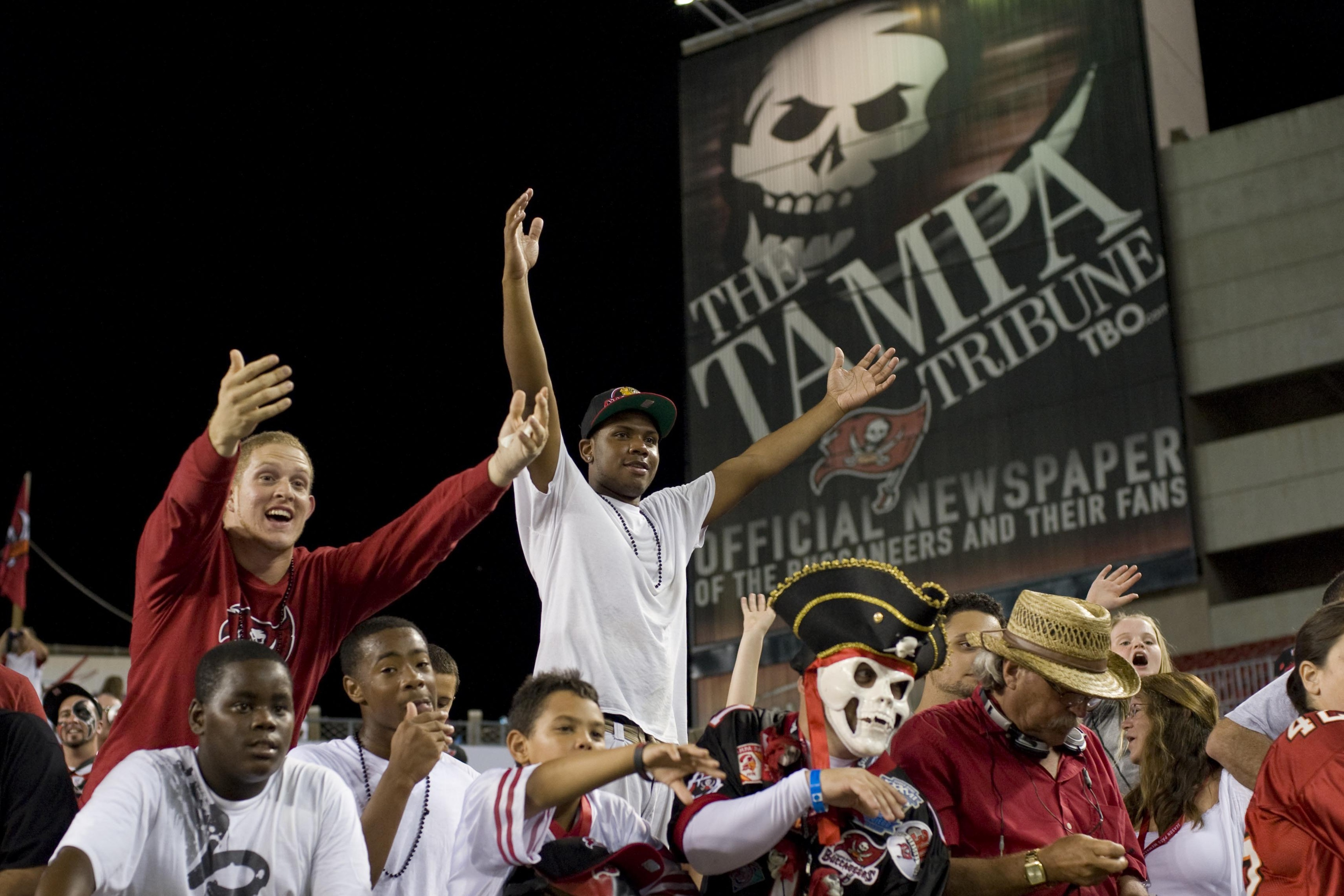 August 17, 2012; Tampa, FL, USA; Tampa Bay Buccaneers fans after a game against the Tennessee Titans at Raymond James Stadium.  Mandatory Credit: Jeff Griffith-US PRESSWIRE