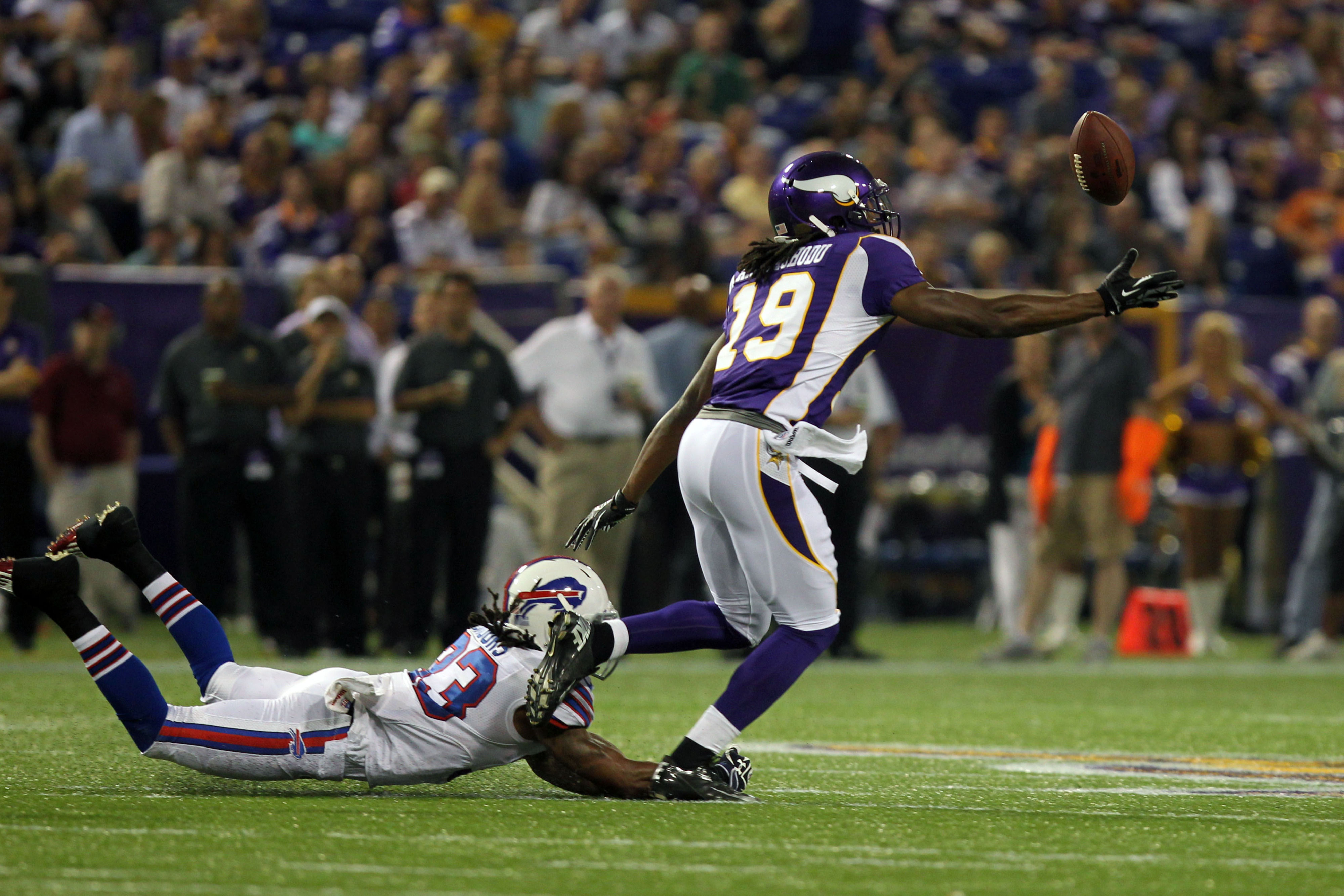 The District Attorney (™ Ted Glover) is one of a few players that need to start stepping up for the Minnesota Vikings, starting this evening. (Mandatory Credit: Brace Hemmelgarn-US PRESSWIRE)