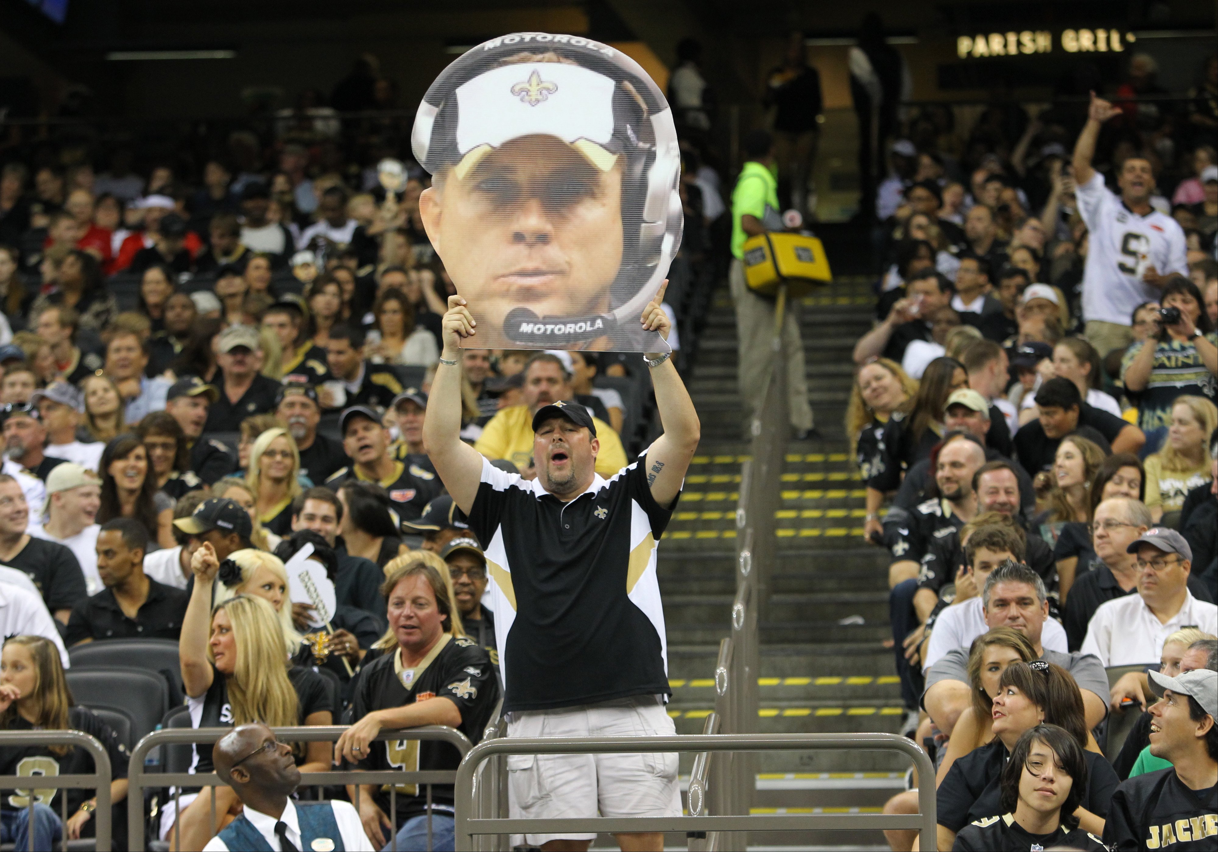 If this floating head makes you yearn for the real Sean Payton, you may want to tune in to Sunday's OTL on ESPN for the Sean Payton feature story.  Mandatory Credit: Derick E. Hingle-US PRESSWIRE