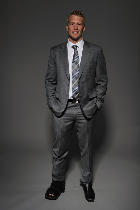 Jordan Staal of the Pittsburgh Penguins poses for a portrait during the 2010 NHL Awards. (Photo by Harry How/Getty Images)
