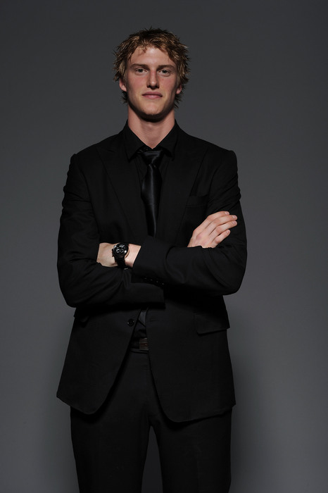 LAS VEGAS - JUNE 23:  Tyler Myers of the Buffalo Sabers poses for a portrait during the 2010 NHL Awards at the Palms Casino Resort on June 23, 2010 in Las Vegas, Nevada.  (Photo by Harry How/Getty Images)
