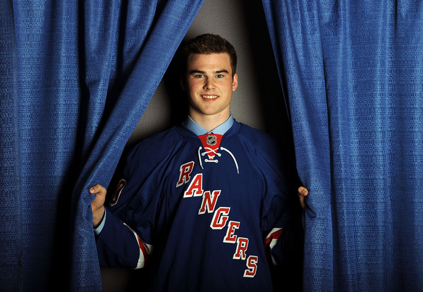 LOS ANGELES, CA - JUNE 25:  Dylan McIlrath, drafted tenth overall by the New York Rangers poses for a portrait during the 2010 NHL Entry Draft at Staples Center on June 25, 2010 in Los Angeles, California.  (Photo by Harry How/Getty Images)