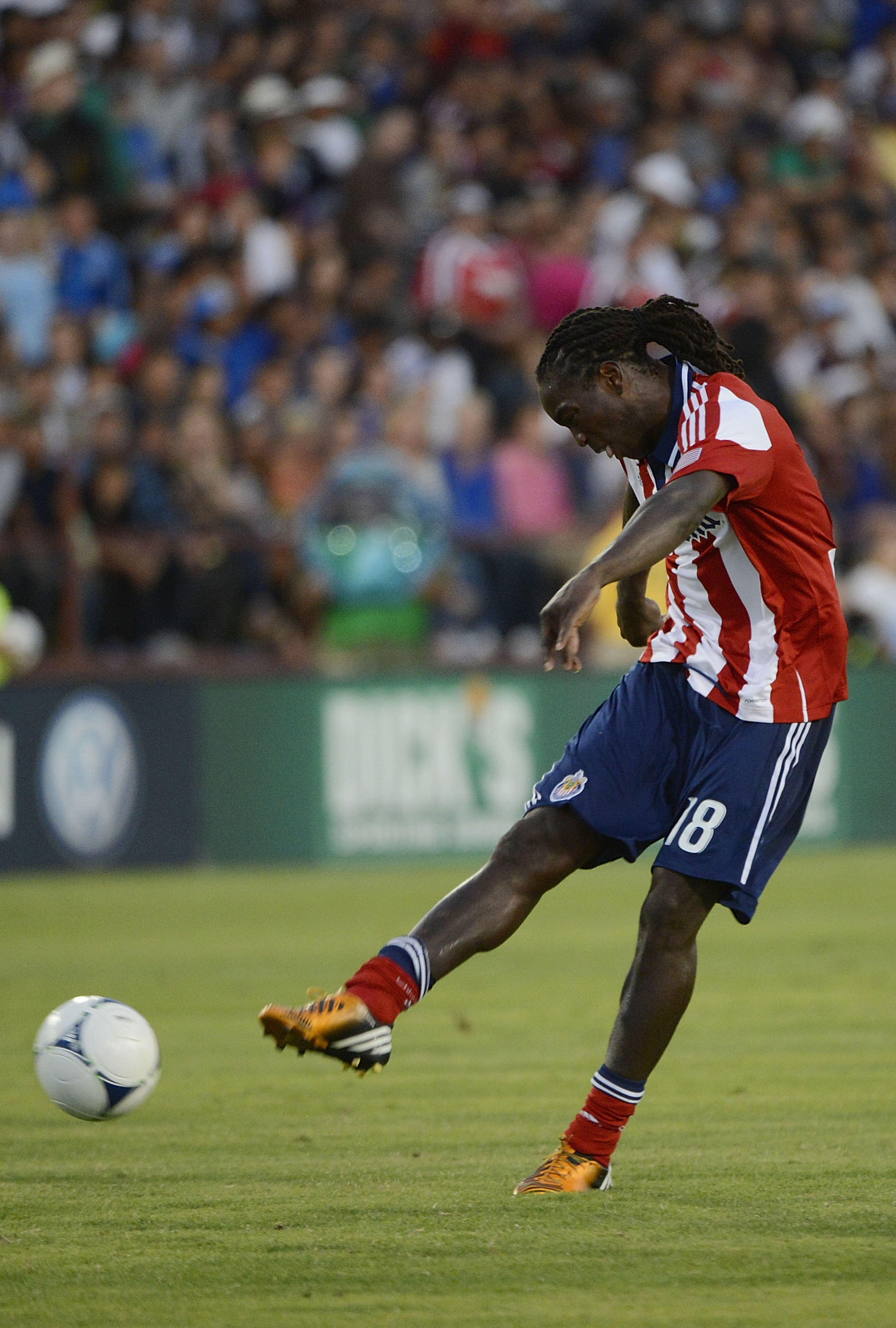 Shalrie Joseph #18 of Chivas USA  (Photo by Thearon W. Henderson/Getty Images)