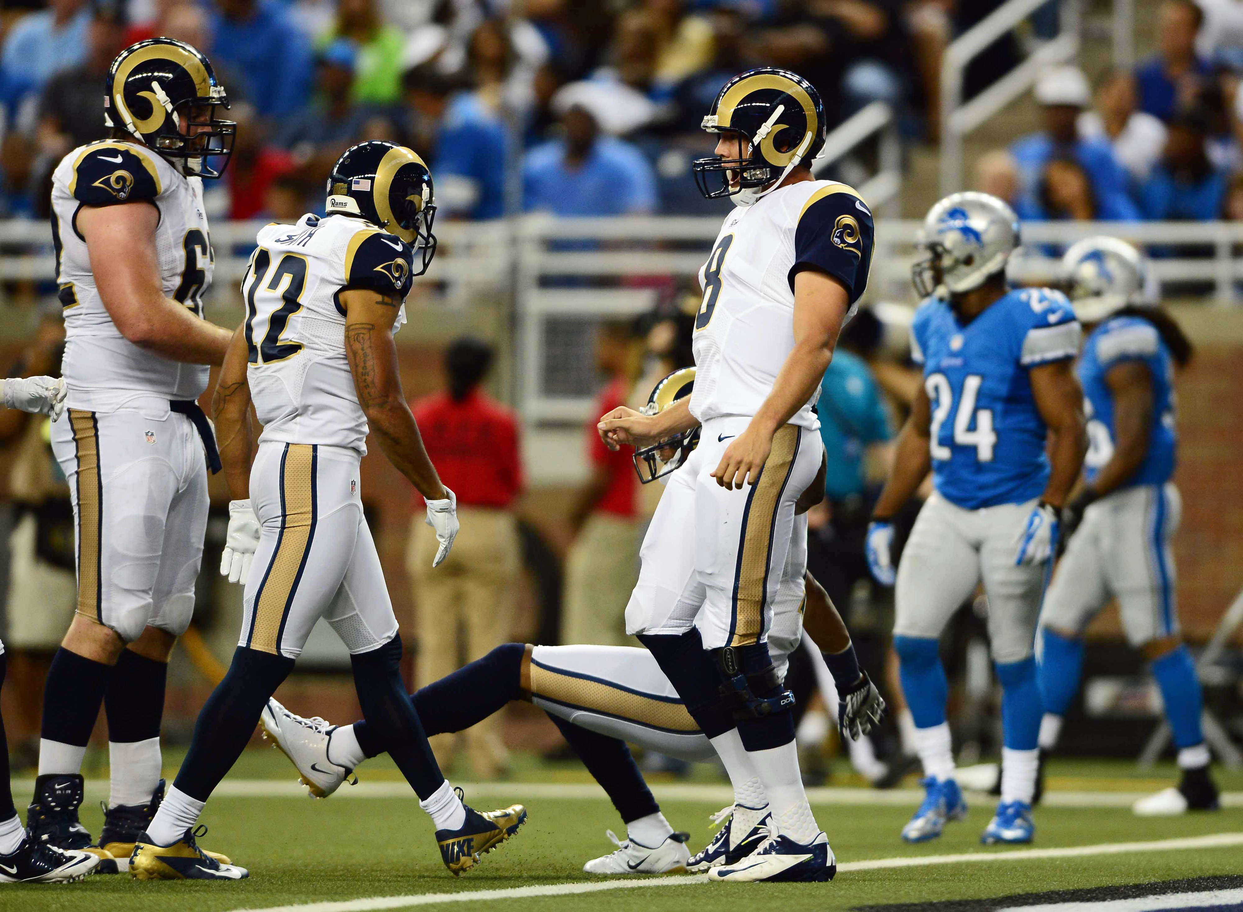 The St. Louis Rams will have to make a roster move or two to address injuries to the offensive line.