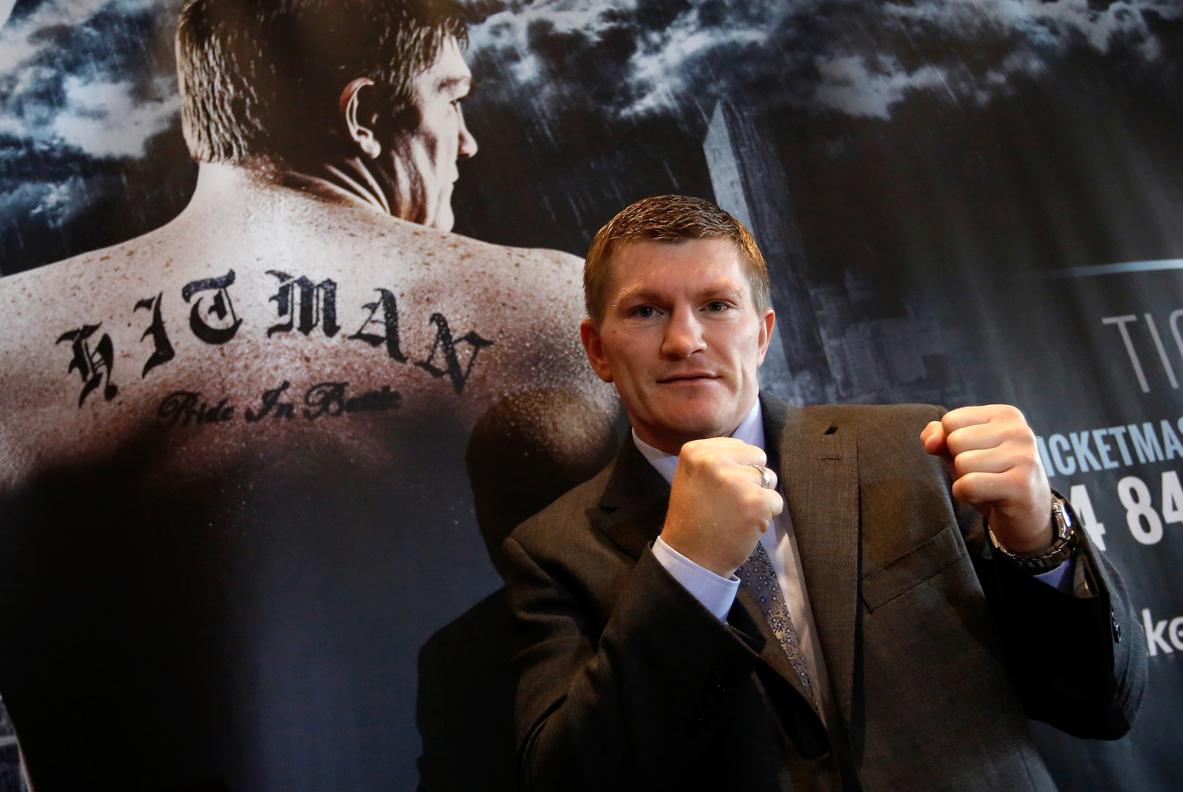 Ricky Hatton says that 10,000 tickets have already been sold for his boxing return in Manchester on November 24. (Photo by Paul Thomas/Getty Images)