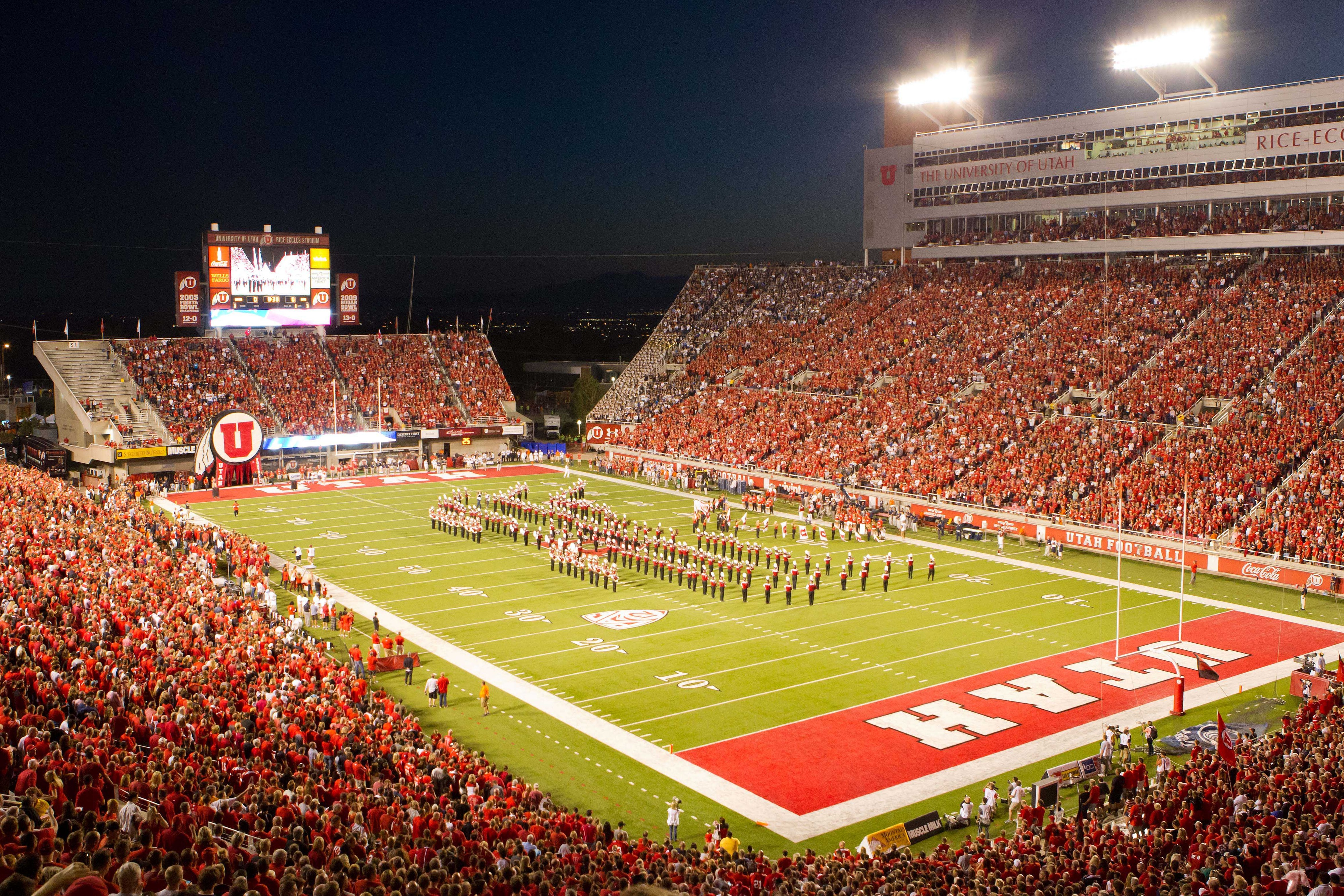September 15, 2012; Salt Lake City, UT, USA; A general view prior to a game between the Utah Utes and the Brigham Young Cougars at Rice-Eccles Stadium. Mandatory Credit: Russ Isabella-US PRESSWIRE