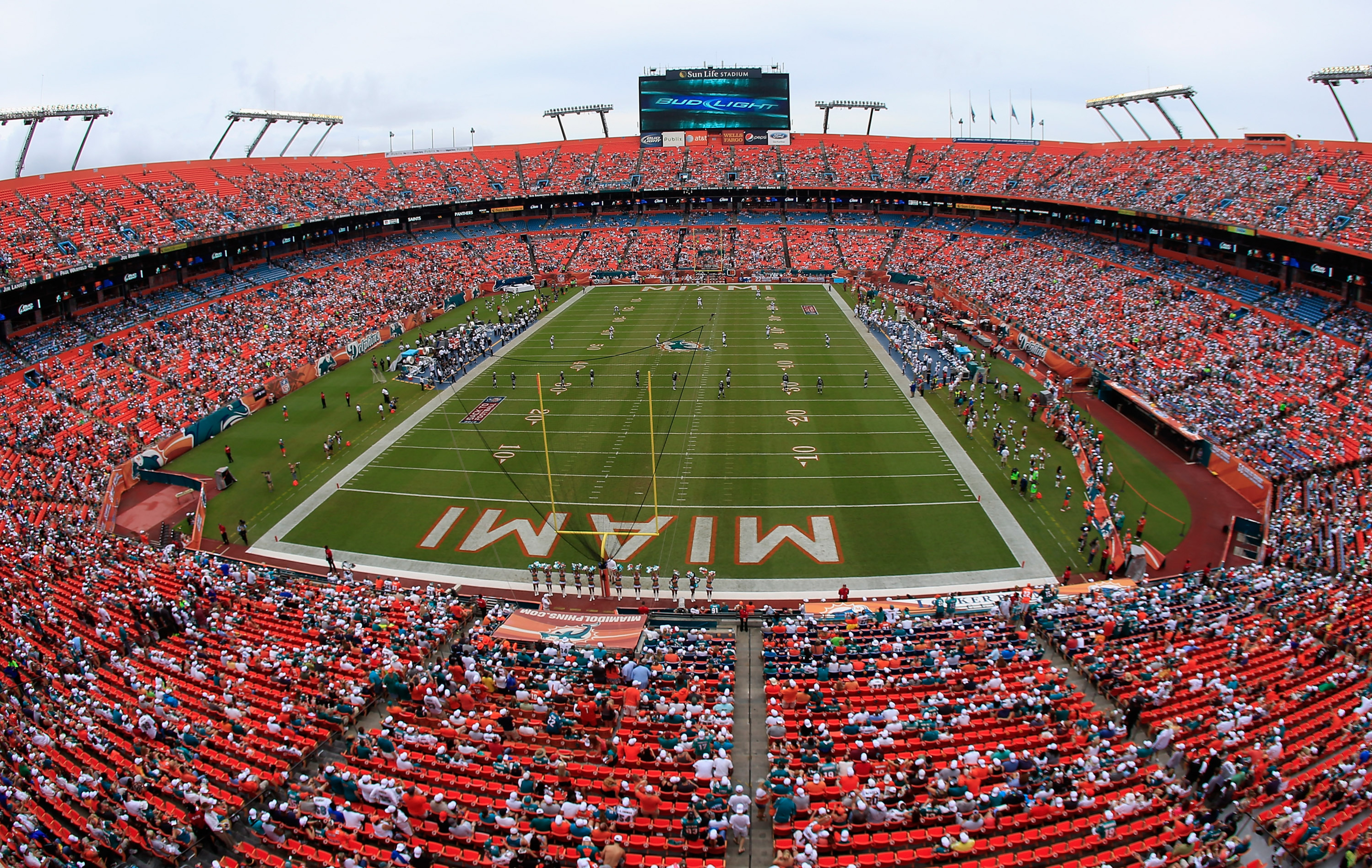 The Miami Dolphins have not yet reached the 85% threshold to declare this Sunday's game a sellout.