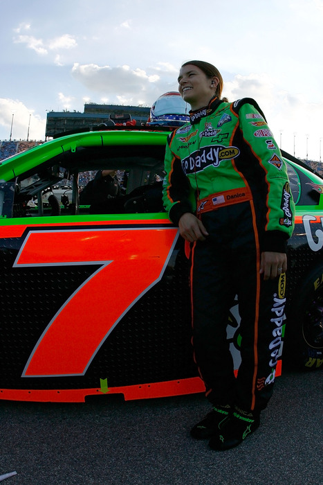 This may be the only way racing fans at Chicagoland Speedway will see Danica Patrick in 2011 - racing in the NASCAR Nationwide Series. (Photo by Jason Smith/Getty Images for NASCAR)