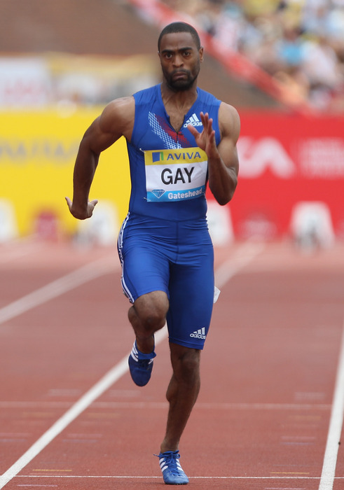 Arkansas's Tyson Gay and the US men's 4x100m relay team won silver today.
