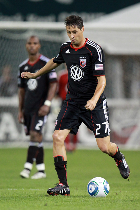 WASHINGTON - JULY 15: Branko Boskovic #27 of D.C. United controls the ball against Seattle Sounders FC at RFK Stadium on July 15 2010 in Washington DC. (Photo by Ned Dishman/Getty Images)