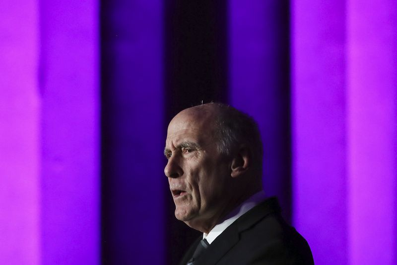 Director of National Intelligence, Dan Coats speaks during the 2018 CyberTalks conference in Washington, DC, on October 18, 2018.