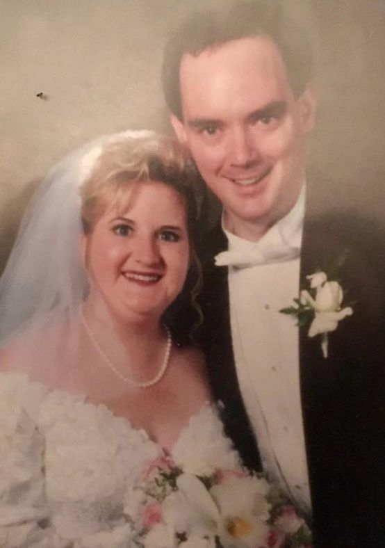 Mary Burke-Griffin and her husband, Martin, on their wedding day.   Supplied photo