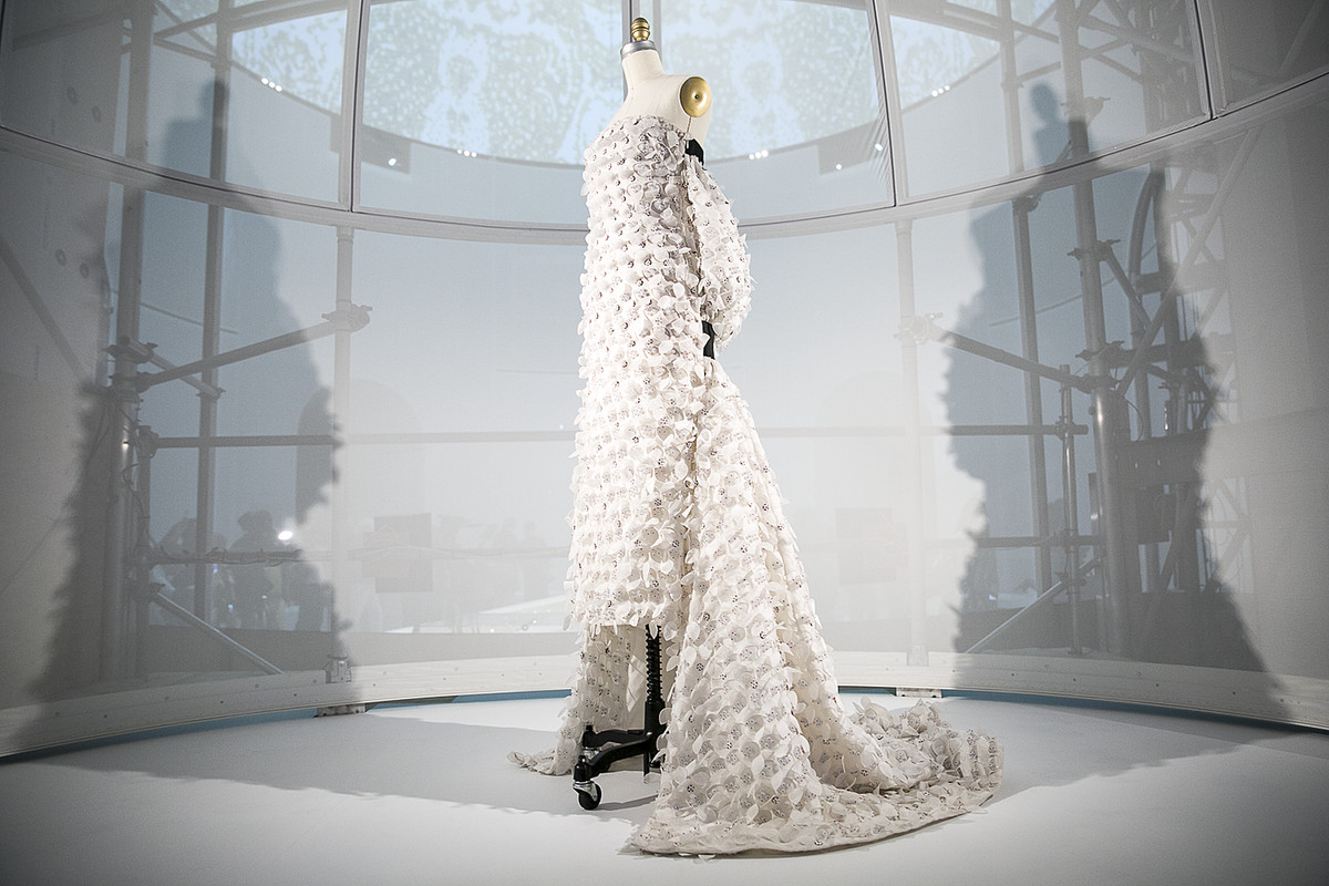 A dress from the Met Museum's 'Manus ex Machina' exhibit