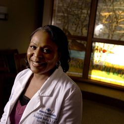 Bridgette Baker is the social work manager at McKay-Dee Hospital Center in Ogden. Photographed in the chapel at the hospital on Friday, Jan. 6, 2012.