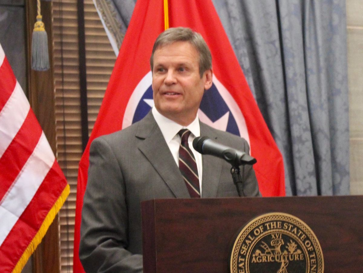 Gov.-elect Bill Lee speaks with reporters the day after being elected the 50th governor of Tennessee. His 75-day transition ends with his inauguration on Jan. 19.